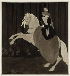 Frontispiece to Chopin's Third Ballade 1895 Aubrey Beardsley