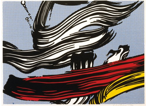 "Roy Lichtenstein, ""Brushstrokes,"" 1967, screenprint, Collection of Jordan D. Schnitzer, Estate of Roy Lichtenstein"