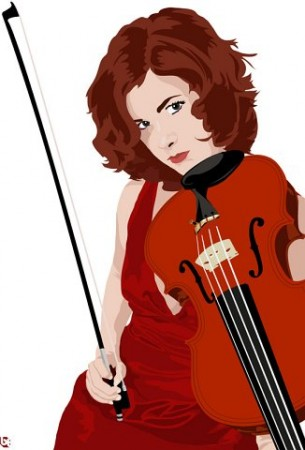 Classical Revolution PDX's Mattie Kaiser. Illustration by Ben Todd.