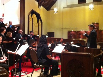Patrick McDonough led The Ensemble in music of Haydn