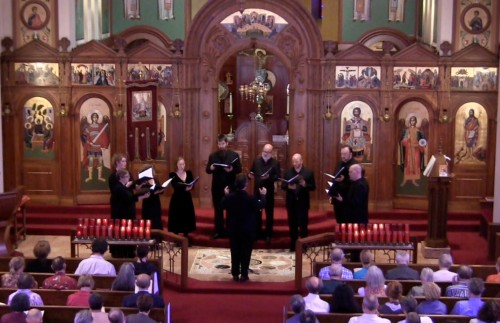 Cappella Romana performed at Holy Trinity Greek Orthodox Cathedral.