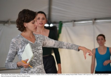 Anne Mueller left Oregon Ballet Theatre in 2013/Oregon Ballet Theatre