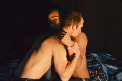 Orion Bradshaw and Chip Sherman canoodle in HumanBeingCurious' Antony and Cleopatra.