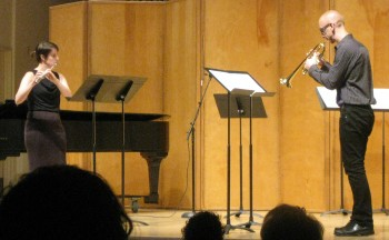 "Living Music Now concert series: Performance of Joseph Stillwell's ""Scherzo"" with Sarah Pyle (flute) and Brian McWhorter (trumpet)"
