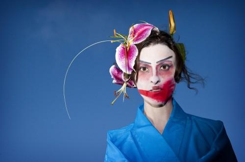 """Mueller as Livinia in """"Kabuki Titus."""" Photo: Bag&Baggage"""