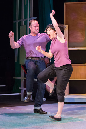 Petruchio (Farmer) and Kate (Porter): ungentle behavior. Photo: David Kinder