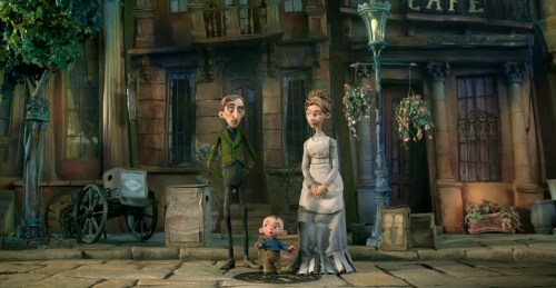 The BoxTrolls trailer lets its orphaned hero try all the possible combinations of parents, finally settling upon a group of unlikely shipping-crate-clad guardians.