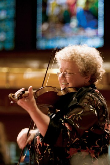 Monica Huggett plays Bach and more on Sunday.