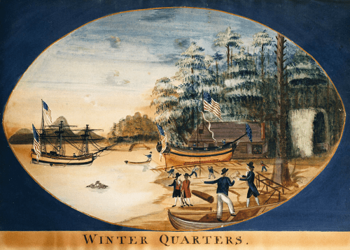 """Winter Quarters,"" George Davidson, Columbia River Maritime Museum"