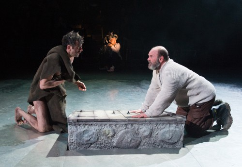 "Jack Willis, right, as Lear and  Benjamin Pelteson as Edgar in ""King Lear""/Jenny Graham"