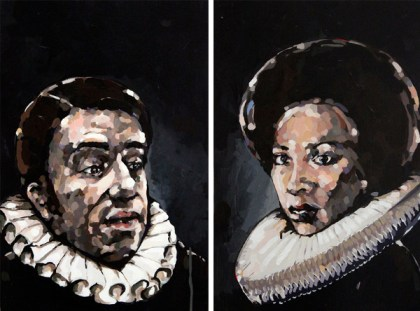"""In """"Ruffnecks,"""" Davis bestows his light-skinned 70's subjects with a symbol of shade-stratified status."""