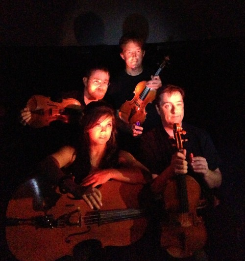 Third Angle New Music string quartet plays Haas's String Quartet #3 Wednesday and Thursday nights at OMSI.