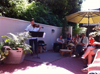 Ron Blessinger performed at Third Angle's Porch Music earlier this summer.