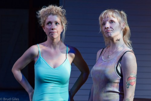 "Brooke Totman and Kelly Tallent in ""Detroit"" at Portland Playhouse."