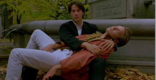 "Keanu Reaves and River Phoenix in ""My Own Private Idaho."""