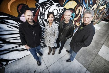 Kronos Quartet comes to Reed College Wednesday. Photo: Jay Blakesberg.