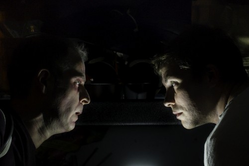 "Zombie v. Man: Sean Doran and Chris Murray in ""The Revenants""/Bill Berk"