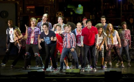 "Roughly the cast ArtsWatch saw in ""American Idiot""...with a bunch of substitutions. Photo by  Litwin."