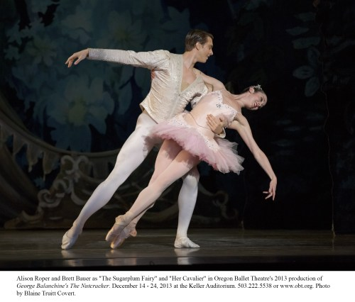 Alison Roper and Brett Bauer as Sugarplum and Cavalier. Photo: Blaine Truitt Covert