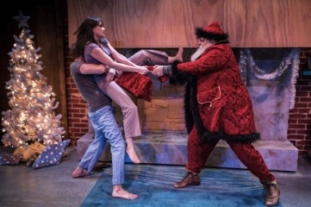 """In """"The Reason for the Season,"""" Deanna (Foss Curtis) and James (Chris Murray) gang up on Kris Kringle./Owen Carey"""