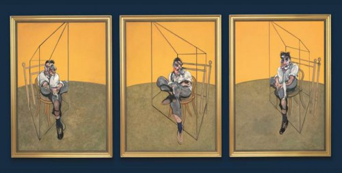"Francis Bacon, ""Three Studies of Lucian Freud,"" 1969/courtesy Portland Art Museum"