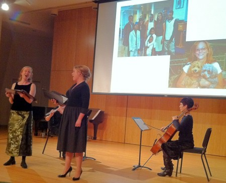 Renee Favand-See, Gail Gillespie, Vakare Petroliunaite, and Diane Chaplin performed at Cascadia Composers' Crazy Jane Misbehaves concert.