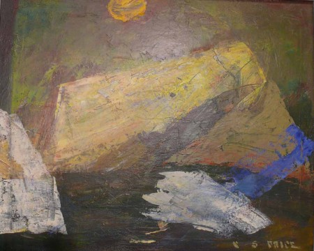 CS Price,  Abstract Landscape, 1949, oil on canvas, The Blanche Eloise Day Ellis and Robert Hale Ellis Memorial Collection, Portland Art Museum