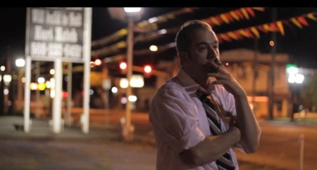 "Dinkowitz in ""Sandy Blvd,"" a spoof movie trailer he created for Spectravagasm."