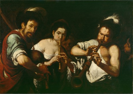 "Bernardo Stozzi, ""Street Musicians,"" 1634-37, oil on canvas, 43.3 x 61.6 inches, Detroit Institute of Arts. Photo: The Bridgeman Art Library"