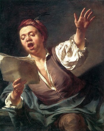 """Giovanni Battista Piazzetta, """"The Singer,"""" c. 1730, oil on canvas, 32.5 x 27 inches, Museée Fabre, Montpelier, France. Photo: Frédéric Jaulmes"""