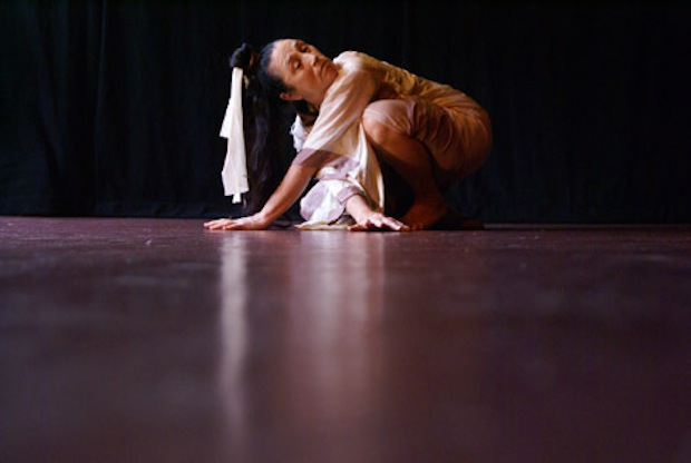 Seattle Butoh dancer Joan Laage. Image by Kaoru Okumura.