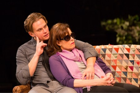 "Billy Magnussen and Sigourney Weaver in Durang's ""Vanya.""Photo: T. Charles Erickson"