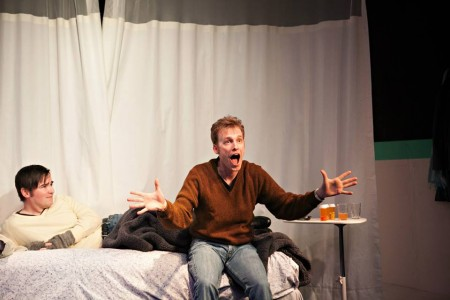 "Matthew Kern and Andrew Bray in ""Let a Hundred Flowers Bloom"" at defunct. Photo: Heather Viera Keeling"