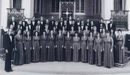 Oregon Repertory Singers, depicted in this vintage photo featuring original long time music director Gilbert Seeley, celebrate their 40th anniversary in concerts this weekend.