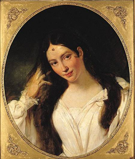 "François Boucher, ""Portrait de la Malibran en Desdémone,"" 1834, oil on canvas, Musée de la vie romantique, on long-term loan from the Louvre."