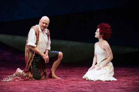 "Prospero (Denis Arndt) and Ariel (Kate Hurster) in ""The Tempest,"" 2012 Photo: Jenny Graham"