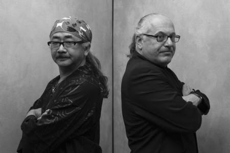 Nobuo Uematsu and Arnie Roth