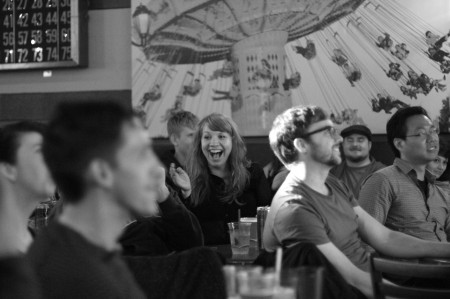 A moment of delight at the Bridgetown Comedy Festival/Photo by Jason Traeger