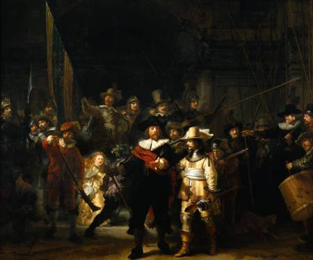 Join the Arts Watch! (Which looks a lot like Rembrandt's The Nightwatch, Rijksmuseum