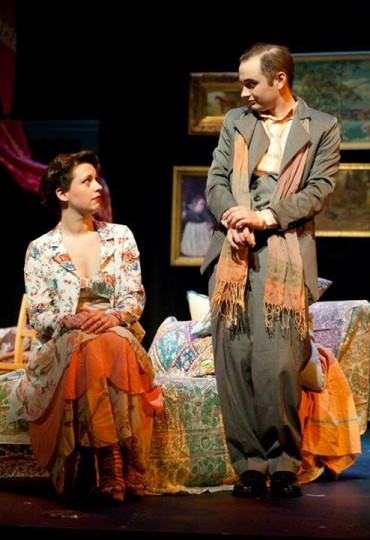 Chrissy Kelly-Pettit as Amanda and Adam Syron as Elyot in Private Lives. Photo: