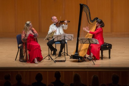 Tara Helen O'Connor, Paul Neubauer and Nancy Allen perform Debussy's Sonata for Flute, Viola and Harp