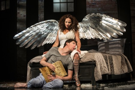 "Raquel Duffy and Damien Atkins in ""Angels in America"" at Toronto's Soulpepper. Photo: Cylla von Tiedemann"