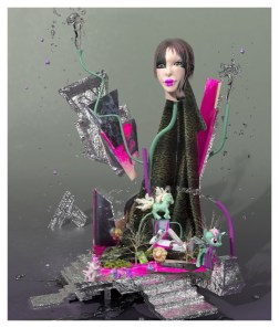 Katie Tor, Still Life with My Little Pony, 2014; 3D render, pigment print on paper; 47 x 40 inches