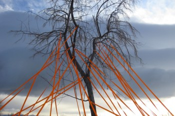 Upside Down in Air Were Towers @ Playa, Summer Lake, OR, 2012 (temporary installation during artist residency).
