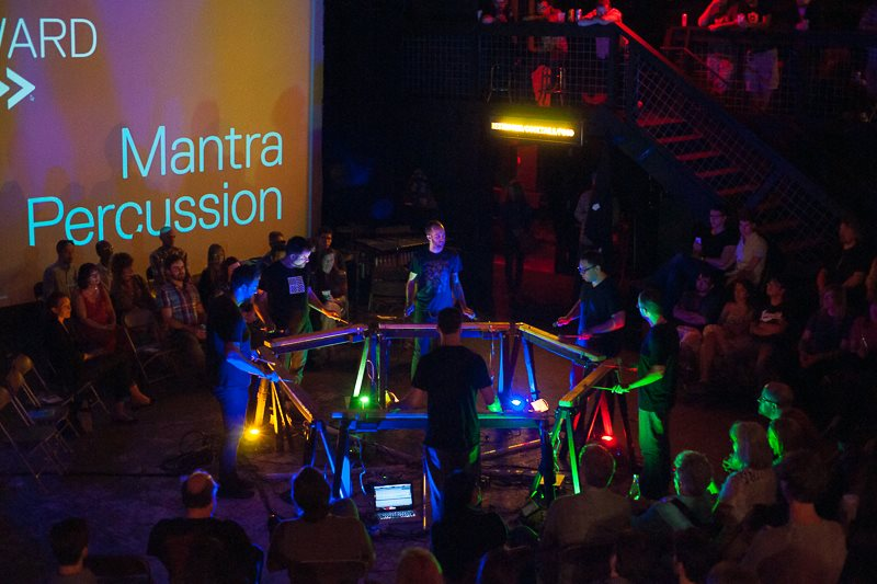 Timber! Members of Mantra Percussion join Third Angle New Music Friday.