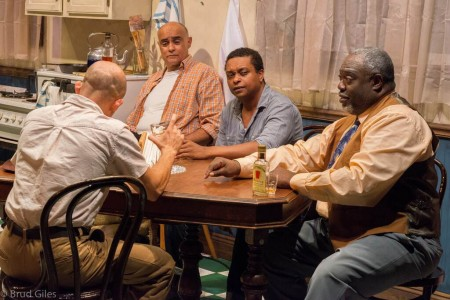 "In the cards: from left, Seth Rue, Mujahid Abdul-Rashid, Bryant Bentley, ""ranney"""