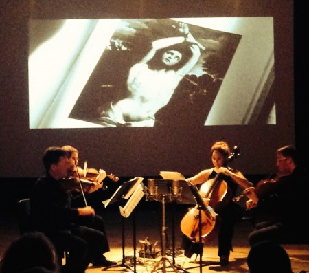 Third Angle New Music string quartet performed at Portland's Zoomtopia. Photo: Lisa Volle.