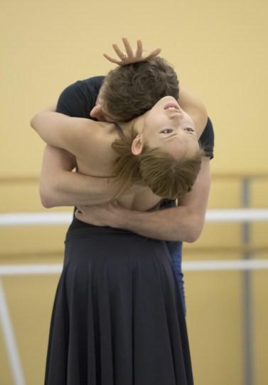 "Ansa Deguchi and Brian Simcoe in the Bedroom Pas de Deux from James Canfield's ""Romeo & Juliet."" Photo: Blaine Truitt Covert"