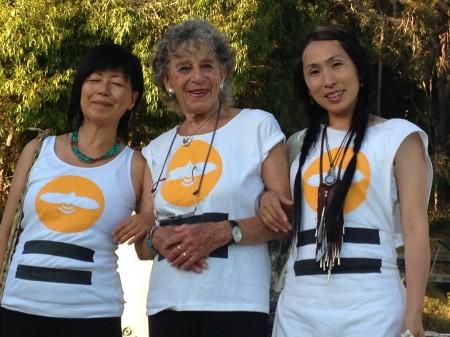 Tomoko Hiraoka (left), An Halprin (center), Dohee Lee. Photo courtesy Mizu Desierto
