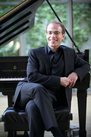 Orion Weiss performs Sunday at Portland State University. Photo: Scott Meivogel.